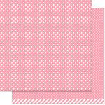 Lawn Fawn - Let's Polka, Mon Amie Collection - 12 x 12 Double Sided Paper - Strawberry Polka