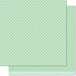 Lawn Fawn - Let's Polka, Mon Amie Collection - 12 x 12 Double Sided Paper - Mint Polka