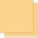 Lawn Fawn - Let's Polka, Mon Amie Collection - 12 x 12 Double Sided Paper - Lemon Polka