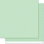 Lawn Fawn - Let's Polka, Mon Amie Collection - 12 x 12 Double Sided Paper - Mint Line Dance