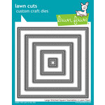 Lawn Fawn - Lawn Cuts - Dies - Large Stitched Square Stackables