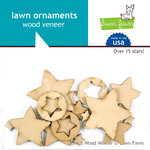 Lawn Fawn - Wood Veneer Pieces - Stars