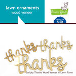 Lawn Fawn - Wood Veneer Pieces - Scripty Thanks