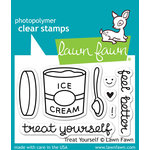 Lawn Fawn - Clear Acrylic Stamps - Treat Yourself