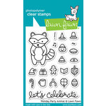 Lawn Fawn - Clear Acrylic Stamps - Holiday Party Animal