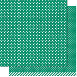 Lawn Fawn - Lets Polka in the Dark Collection - 12 x 12 Double Sided Paper - Frankenstein Polka
