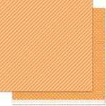 Lawn Fawn - Lets Polka in the Dark Collection - 12 x 12 Double Sided Paper - Jack-o'-lantern Line Dance