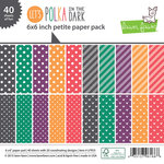 Lawn Fawn - Lets Polka in the Dark Collection - 6 x 6 Petite Paper Pack