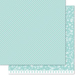 Lawn Fawn - Lets Bokeh in the Snow Collection - 12 x 12 Double Sided Paper - Ice Blue Twist