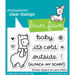 Lawn Fawn - Clear Acrylic Stamps - Winter Alpaca