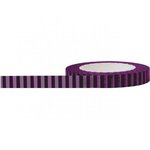 Little B - Decorative Paper Tape - Black and Purple Stripes - 8mm