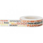 Little B - Decorative Paper Tape - Halloween - Halloween Words - 15mm
