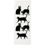 Little B - 3 Dimensional Stickers - Halloween - Black Cats - Mini
