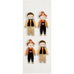 Little B - 3 Dimensional Stickers - Halloween - Harvest Scarecrows - Mini