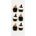 Little B - 3 Dimensional Stickers - Halloween - Witch Cupcakes - Mini