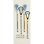Little B - 3 Dimensional Stickers - Lacrosse - Mini