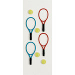Little B - 3 Dimensional Stickers - Tennis - Mini