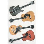 Little B - 3 Dimensional Stickers - Guitars - Medium