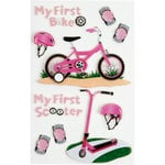 Little B - 3 Dimensional Stickers - First Bicycle Girl - Medium