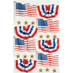 Little B - 3 Dimensional Stickers - USA Flags - Medium