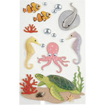 Little B - 3 Dimensional Stickers - Sea Creatures - Medium