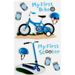Little B - 3 Dimensional Stickers - First Bicycle Boy - Medium