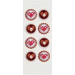 Little B - 3 Dimensional Stickers - Hearts - Mini