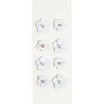 Little B - 3 Dimensional Stickers - Pearl Flowers - Mini
