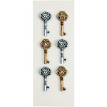 Little B - 3 Dimensional Stickers - Antique Keys - Mini