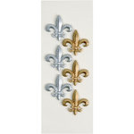 Little B - 3 Dimensional Stickers - Fleur De Lis - Mini