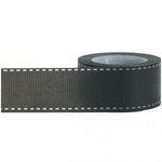 Little B - Decorative Paper Tape - Black Grosgrain - 25mm