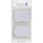 Little B - Decorative Self Adhesive Paper Labels - White Kraft