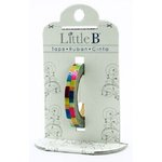 Little B - Decorative Paper Tape - Pink Foil Multi Color Stripes - 3mm