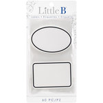 Little B - Decorative Self Adhesive Paper Labels - Black Border