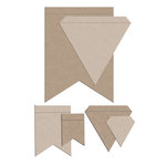 Little B - Cutting Dies - Pennants