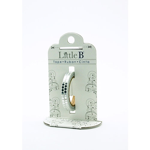 Little B - Decorative Paper Tape - Silver Foil Harlequin - 3mm