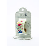 Little B - Decorative Paper Tape - Pink Foil Color Stars - 25mm