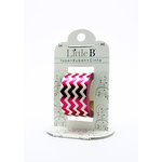Little B - Decorative Paper Tape - Pink Foil Chevron - 25mm