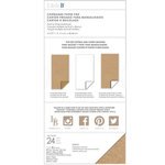 Little B - 6 x 12 Chipboard Pack - Kraft and White