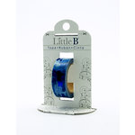 Little B - Decorative Paper Tape - Blue Foil Camouflage - 15mm