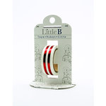 Little B - Decorative Paper Tape - Red Foil Mono Stripe - 15mm