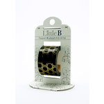 Little B - Decorative Paper Tape - Gold Foil Black Honeycomb - 25mm