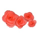 Little B - Paper Flower - Petal Kits - Coral Carnation