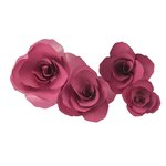 Little B - Paper Flower - Petal Kits - Plum Carnation