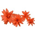 Little B - Paper Flower - Petal Kits - Orange Daisy
