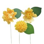 Little B - Paper Flower - Petal Strip Kits - Yellow Daisy
