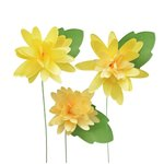 Little B - Paper Flower - Petal Strip Kits - Yellow Mum