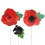 Little B - Paper Flower - Petal Strip Kits - Poppy