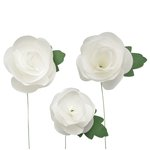 Little B - Paper Flower - Petal Strip Kits - White Rose