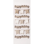 Little B - 3 Dimensional Stickers - Mini - Happy Birthday